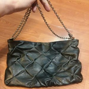 Bcbgmaxazria quilted leather crossbody/clutch